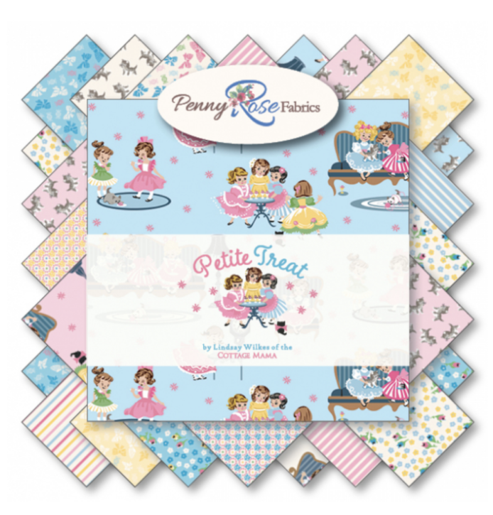 Petite Treat Fabric Collection by Lindsay Wilkes from The Cottage Mama for Riley Blake Designs and Penny Rose Fabrics